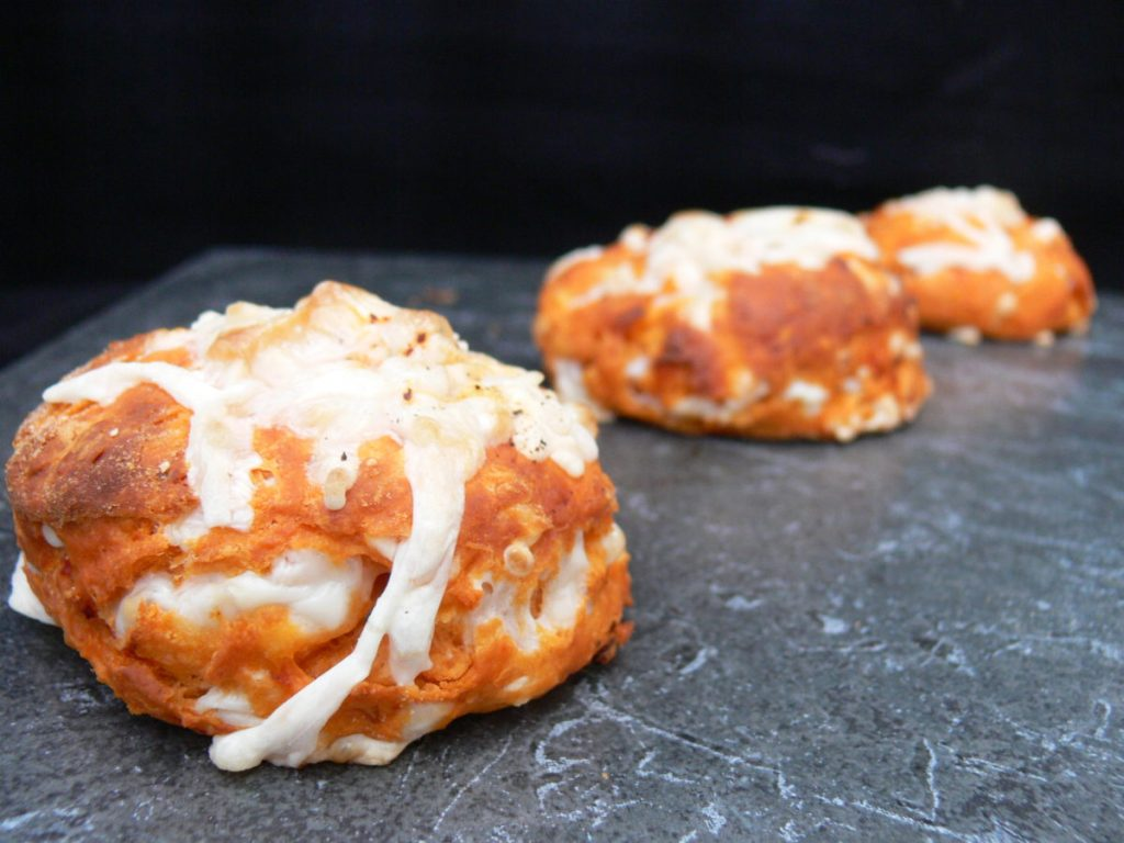 Cheese & Tomato Scones are packed full of fresh herbs, smoky chilli flakes and a striking Autumnal orange colour. They are great for dunking in soup as these days turn cold but are definitely best eaten warm so the cheese is still oozy!Use whichever cheese you like, dairyfree, vegan or otherwise, they all work just as well!