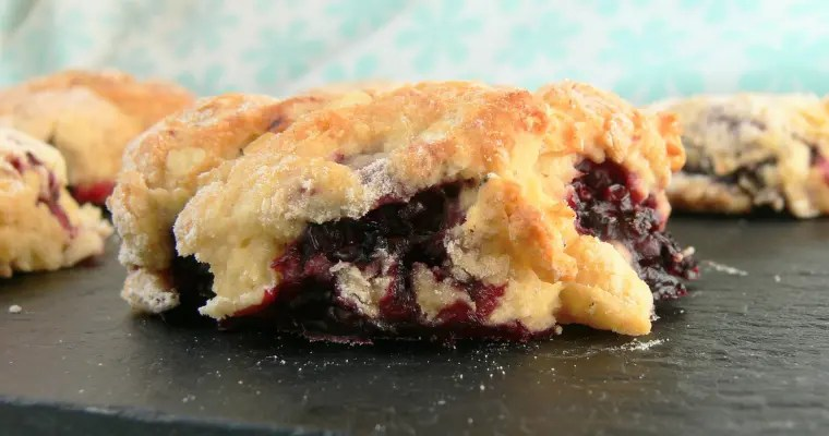 Vegan Blackberry White Chocolate Scones