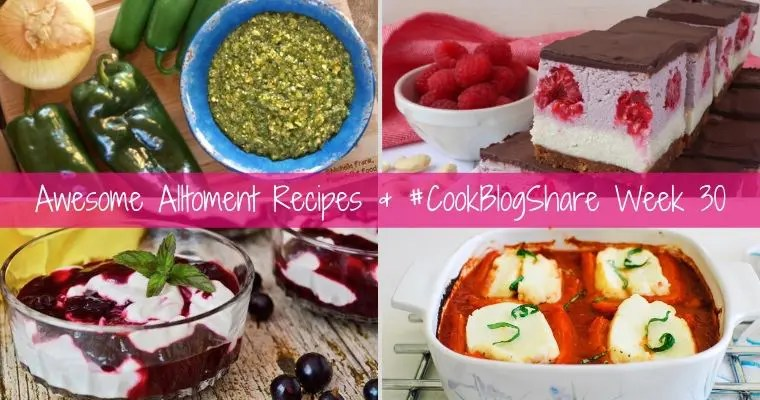 Four Awesome Allotment Recipes for #CookBlogShare week 30. In honour of all the beautiful seasonal goodies that are currently gracing allotments & veggie patches all over the country!