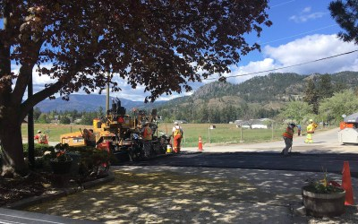Here are the 2021 paving projects in Peachland: