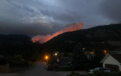 Fire above Connector, close to Trepanier
