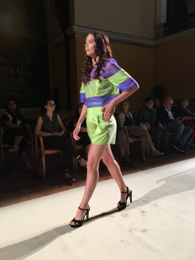global-sustainable-fashion-week-runway-green-shorts