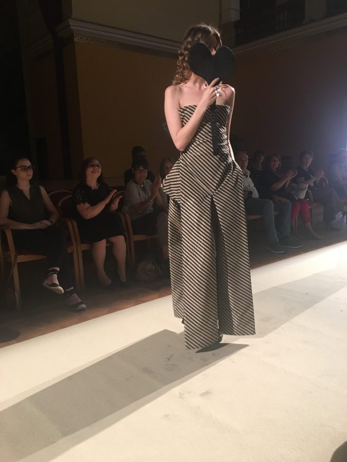 global-sustainable-fashion-week-runway-stripe-overalls