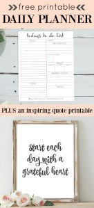 Free daily planner printable to help you get more organized!