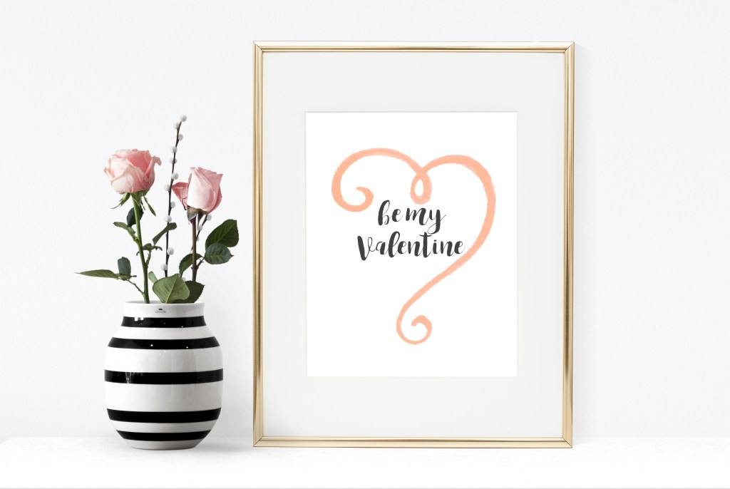 Be my Valentine Free Printable