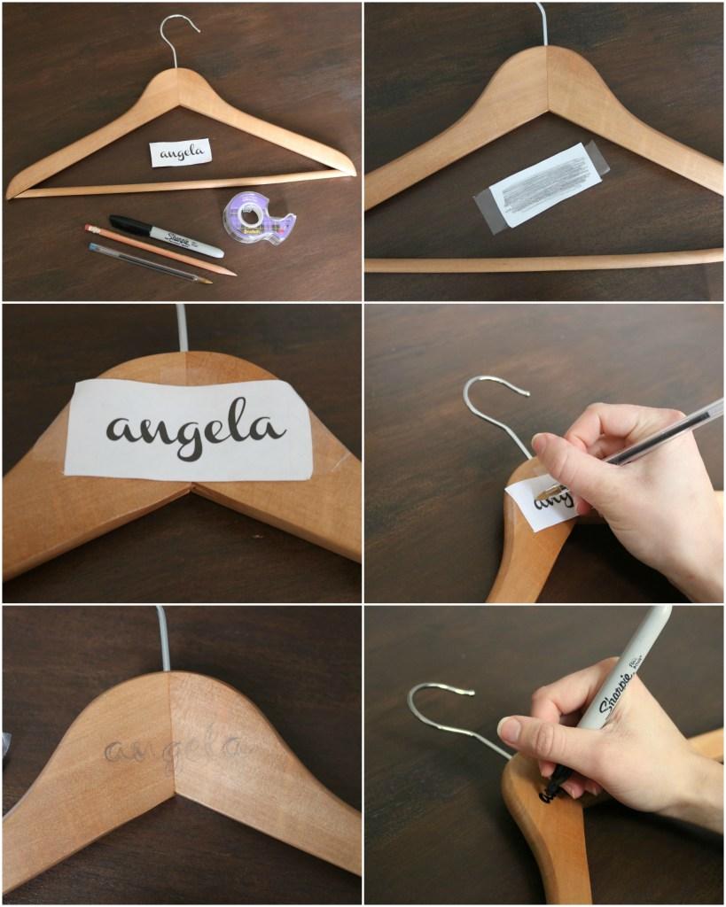 DIY bridesmaid Hangers