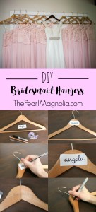 DIY Bridesmaid Wooden Hangers