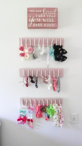 DIY Bow Hanger