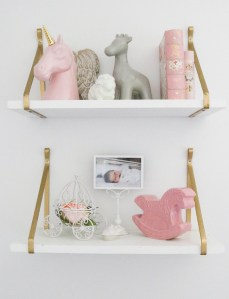 Baby Girl Nursery - Shelves