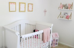 Baby Girl Nursery - Pink, Gold and White