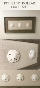 DIY Sand Dollar Wall Art. Easy to make!