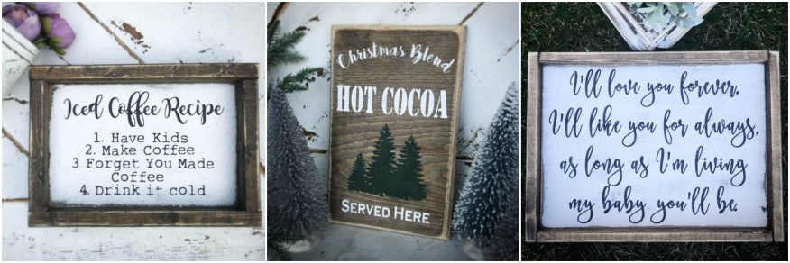 Hazel Greys Shop Wooden Signs