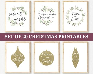 Set of 20 Christmas Printables