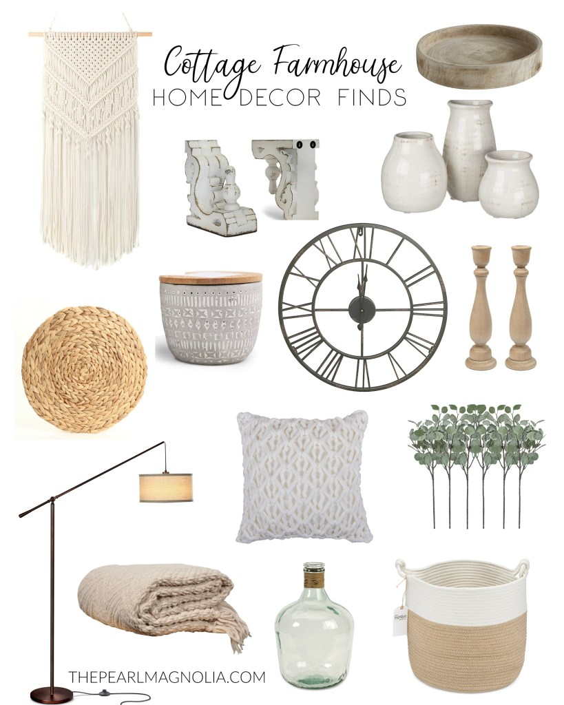Cottage Farmhouse Home Decor Finds by The Pearl Magnolia