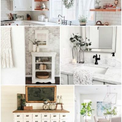 10 Beautiful Home Decor Instagram Photos + Farmhouse Cottage Decor Finds