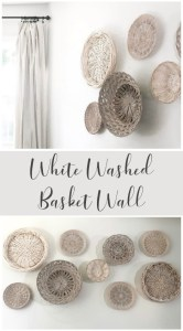 White Washed Basket Wall under $10