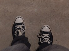 I have had my first black pair o' Converse for almost a year!
