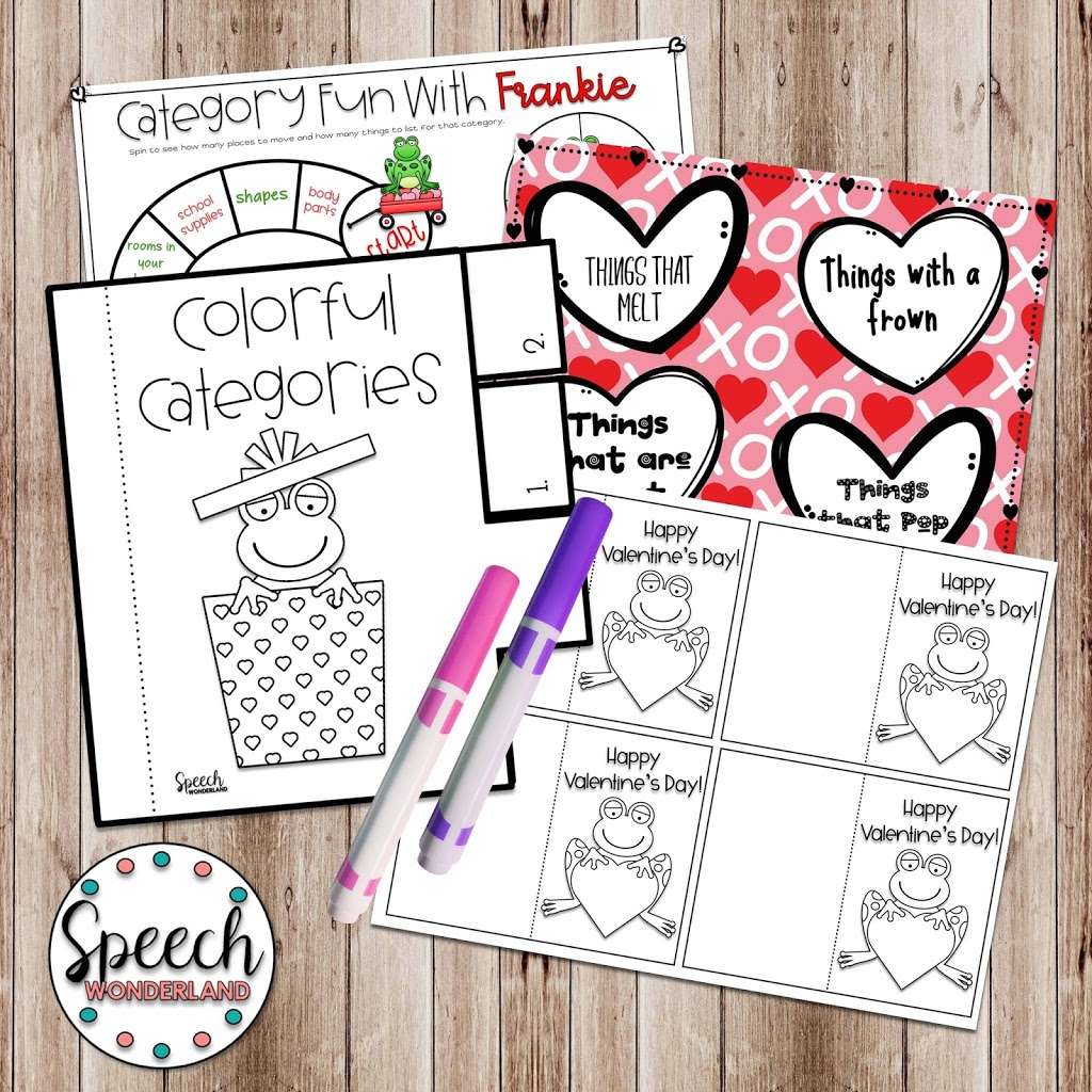Free Speech Therapy Valentine S Day Activities