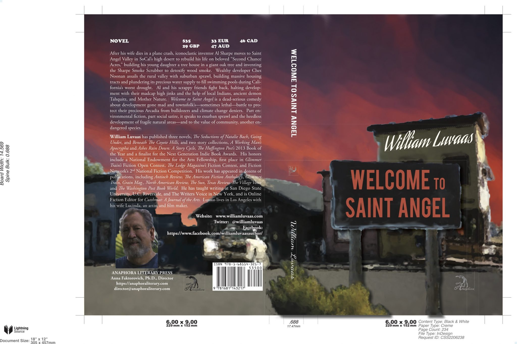 Welcome to Saint Angel by William Luvaas
