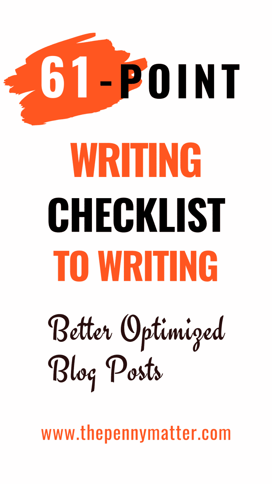 61-point content writing checklist for optimizing blog posts