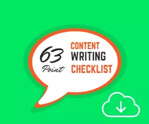 63 point content writing checklist feature image
