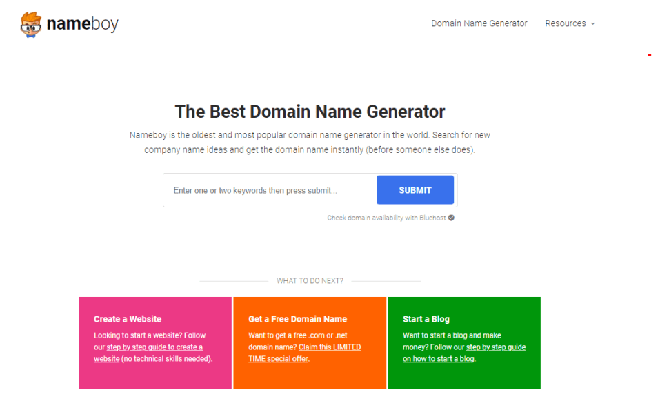 Nameboy Best Blog Name Generators to Find Good Blog Name Ideas