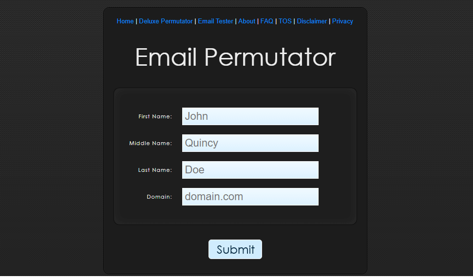 how to find someone's email address using email permutator