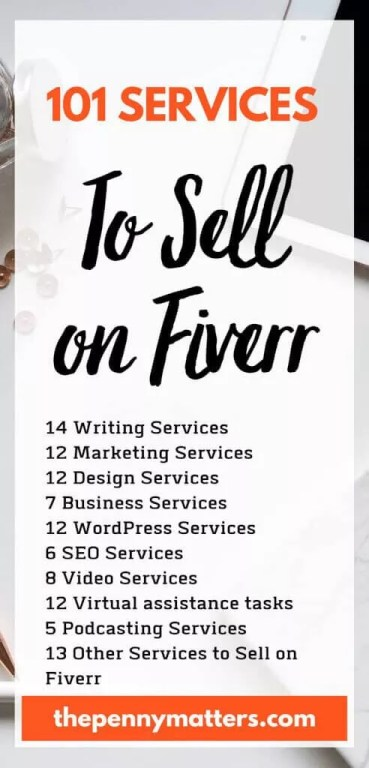 101+ Online Services to Sell on Fiverr