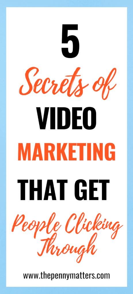 5 Secrets of Super Successful Video Marketing 3