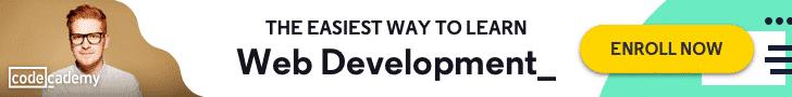 codeacademy web development courses