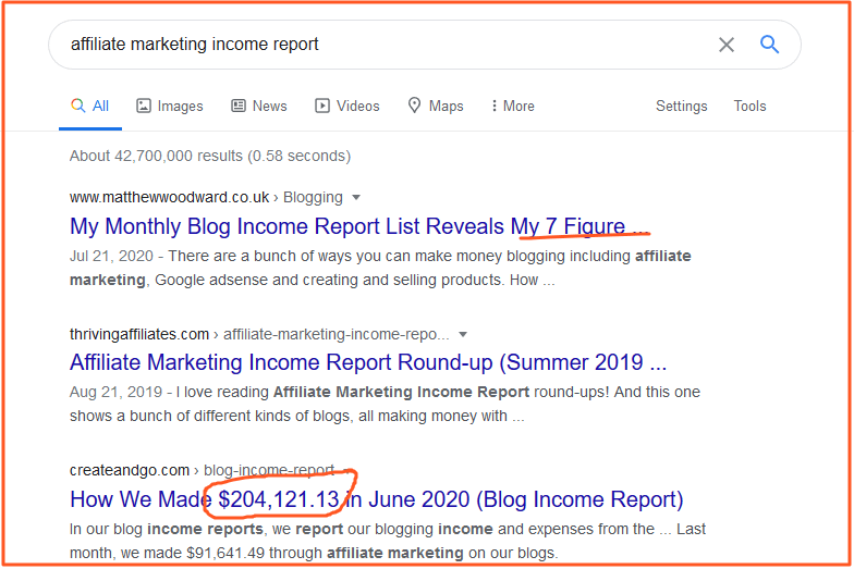 affiliate marketing mistakes income report