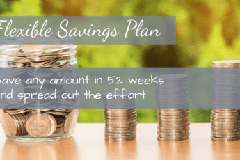 Use a flexible savings plan to spread out the effort saving over the entire year.