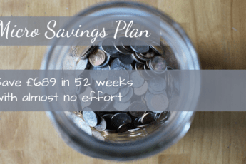 A Micro Savings Plan to save £689 in 12 months