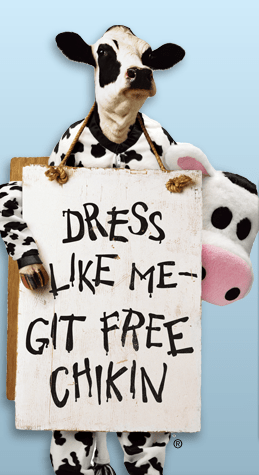 image relating to Cow Appreciation Day Printable Costume referred to as Chick-Fil-A: No cost Supper upon Cow Appreciation Working day! (7/13) - The