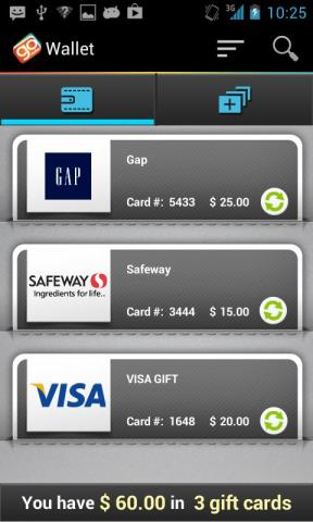 GoWallet manages gift cards