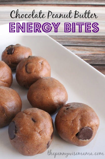 Chocolate Peanut Butter Protein Energy Bites