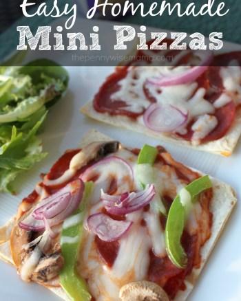 Homemade Mini Pizzas