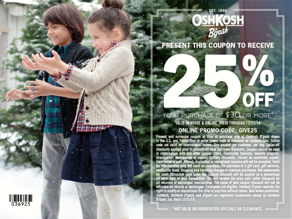 photograph about Oshkosh Printable Coupon identify OshKosh Bgosh 25% Off Coupon #GiveHappy - The PennyWiseMama