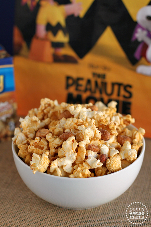 """Peanuts Popcorn"" (caramel popcorn with peanuts) - inspired by the Peanuts Movie"