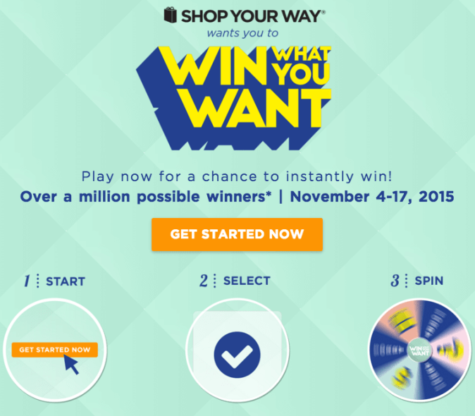 Shop Your Way Win What You Want Sweepstakes
