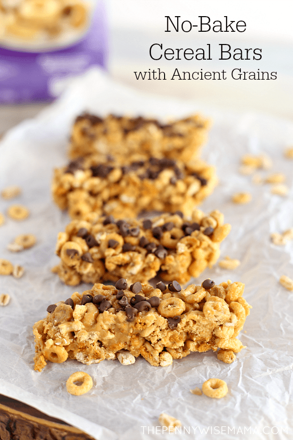 Yummy No-Bake Cereal Bars with Ancient Grains