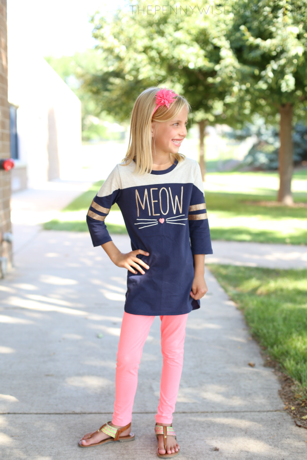 2016 Back to School Style with OshKosh B'gosh: mix-and-match tunic & leggings