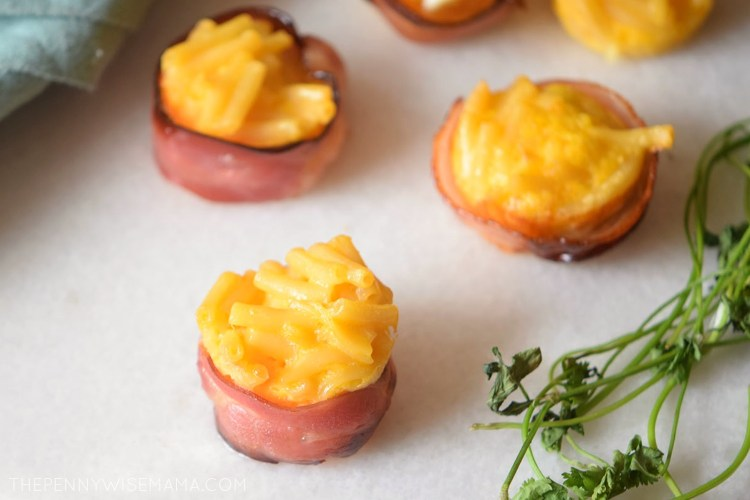 Bacon-Wrapped Mac & Cheese Bites
