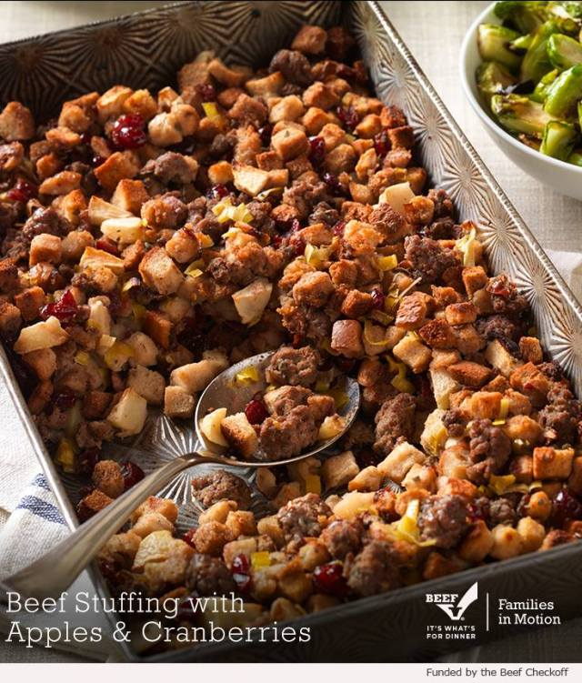 Beef Stuffing with Apples and Cranberries