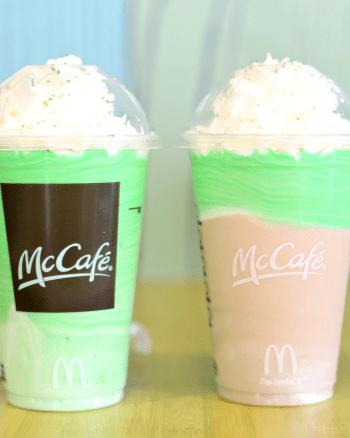 McCafe Chocolate Shamrock Madness Drinks
