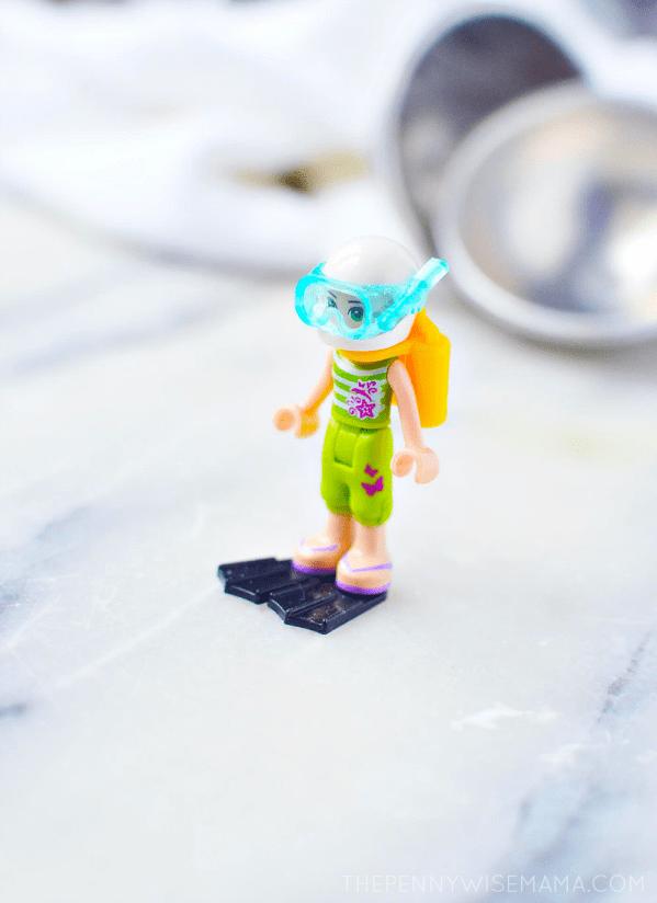 Bath Bombs with Hidden Legos Inside