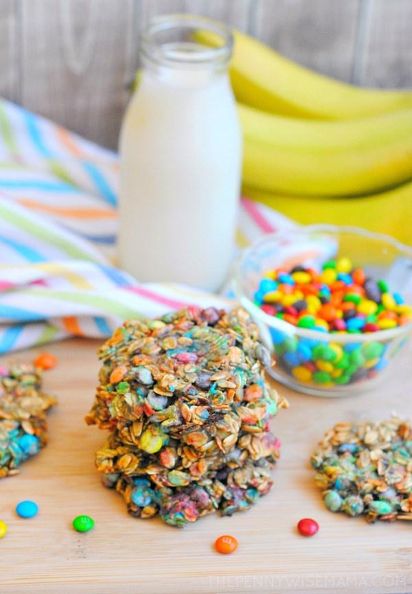 Easy M&M Rainbow Cookies