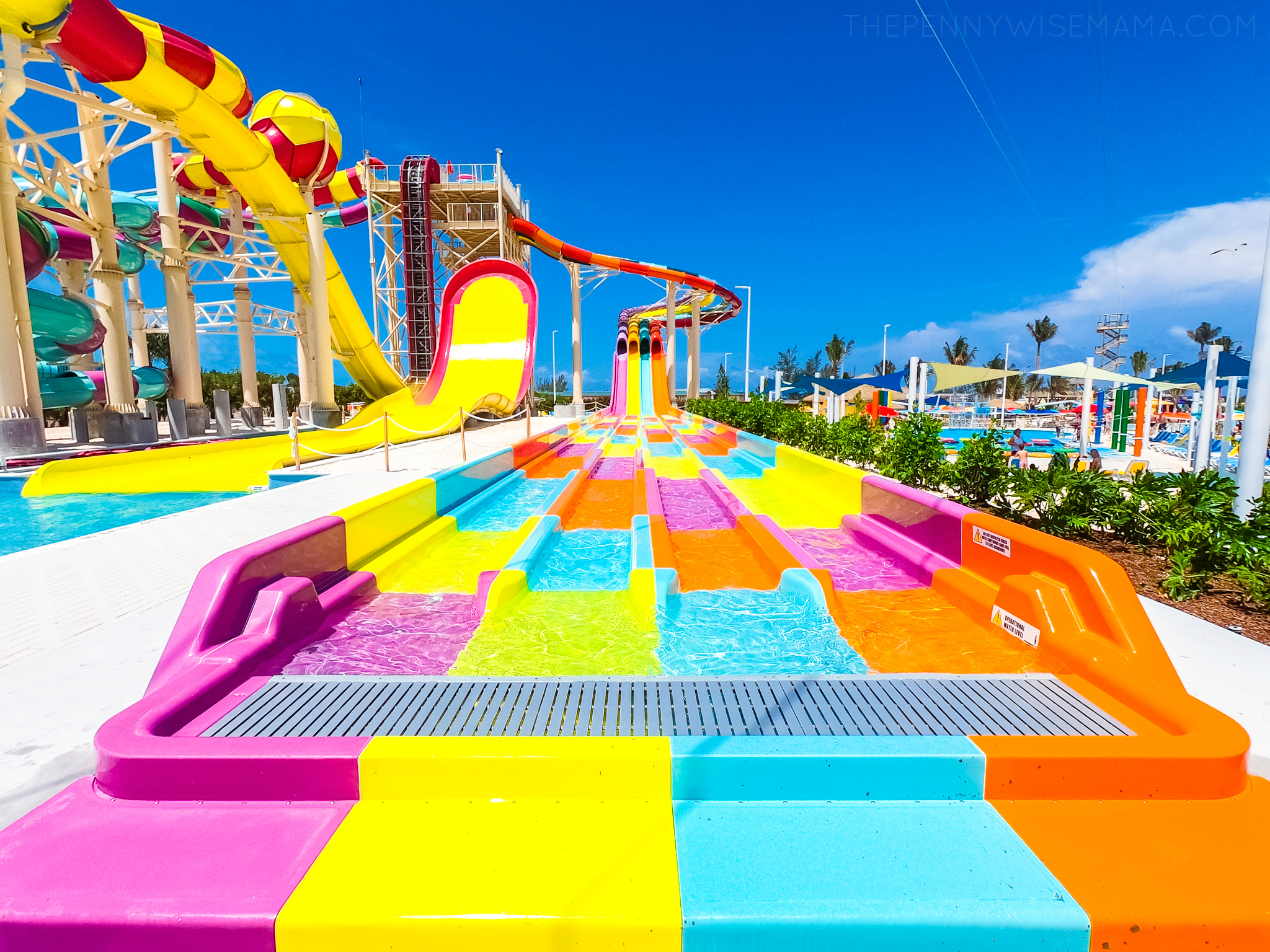 Colorful Waterslides at Perfect Day at CocoCay