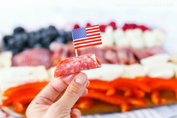 Fourth of July Appetizer - Patriotic Charcuterie Board