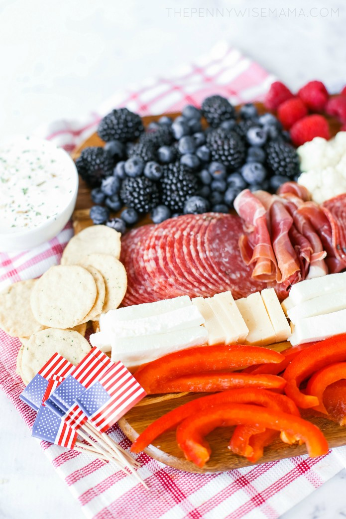 A Patriotic Charcuterie Board for the Fourth of July